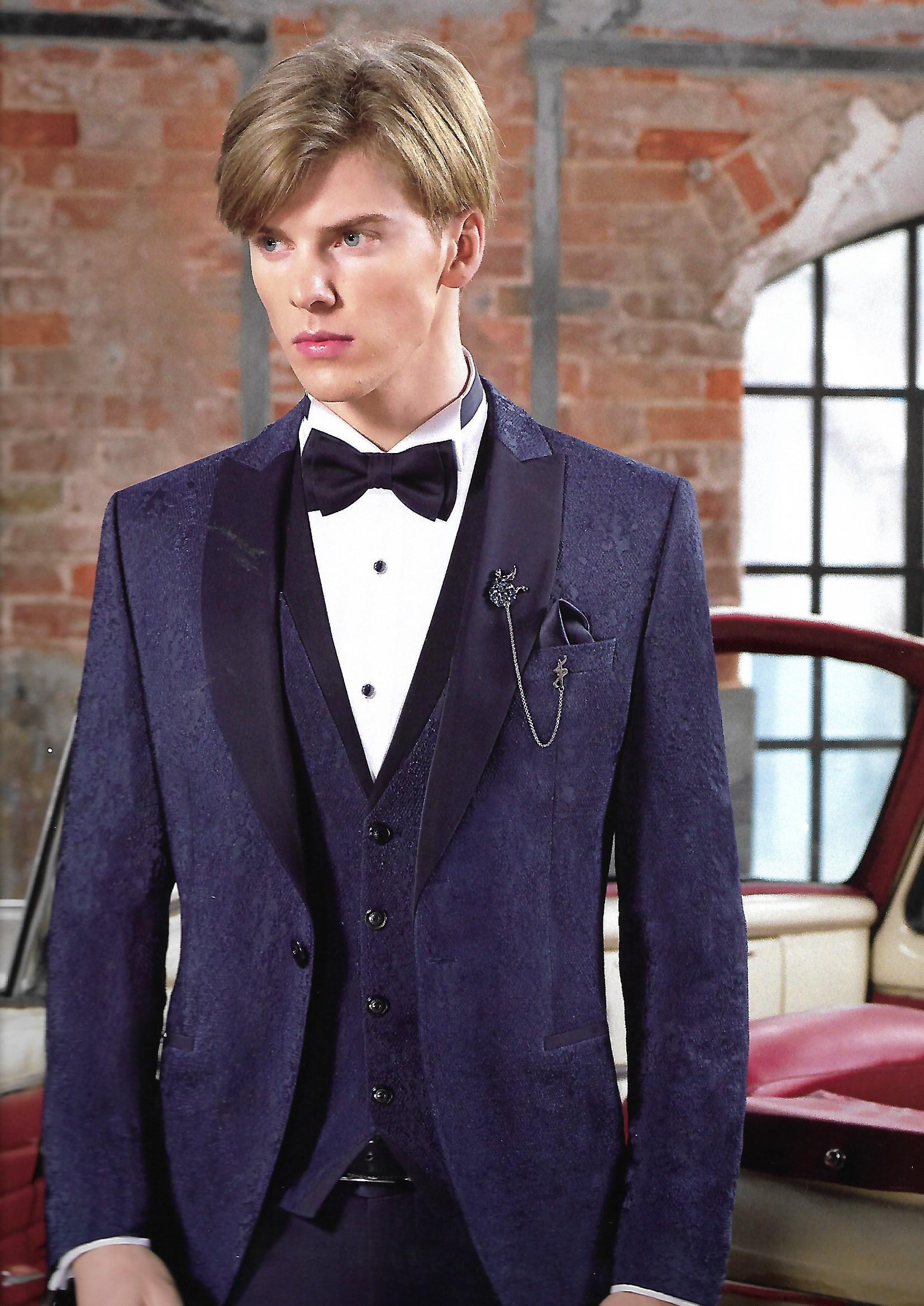 Blue lace suit