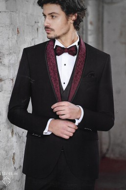suit black bordeaux