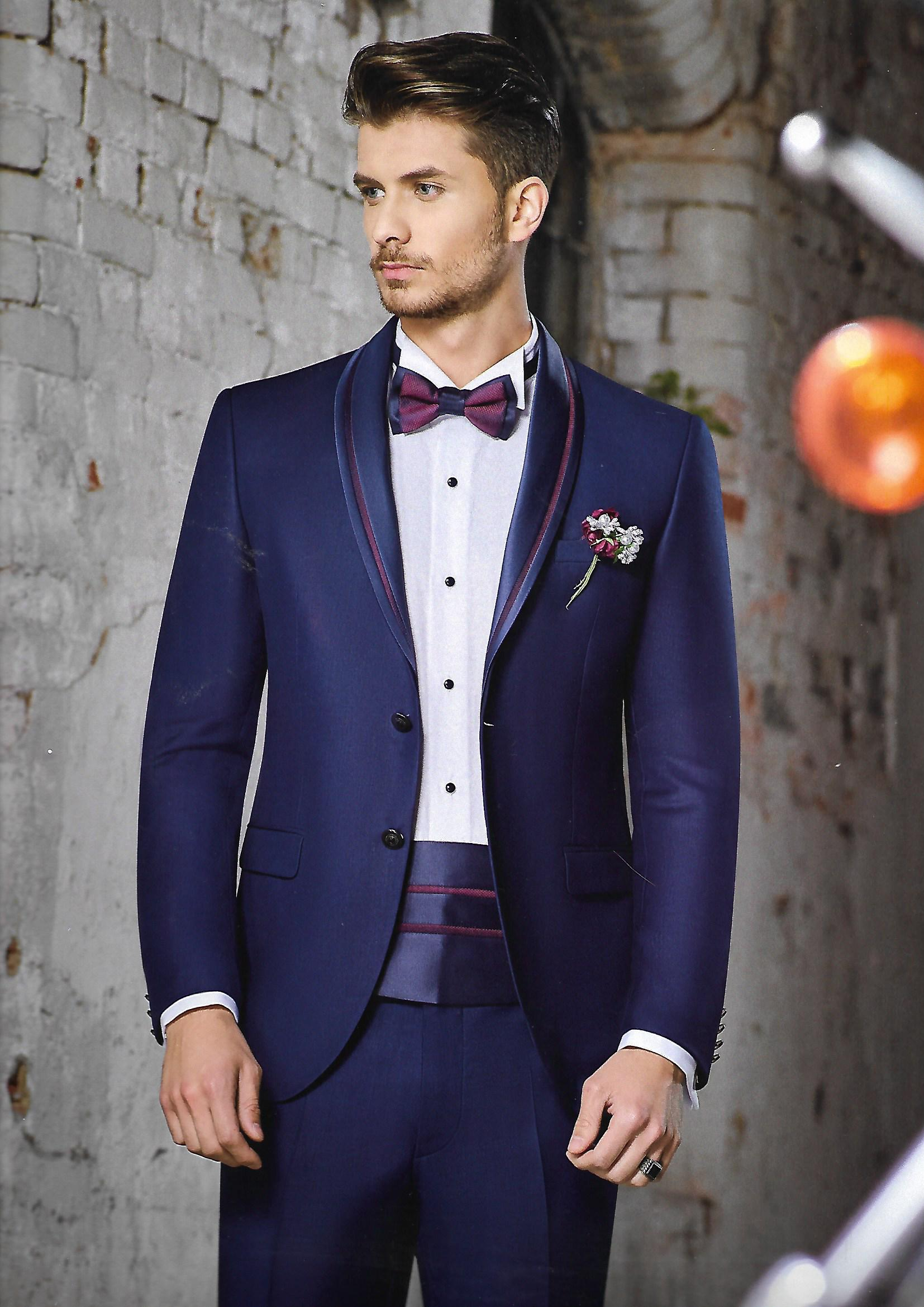 suit blue bordeaux