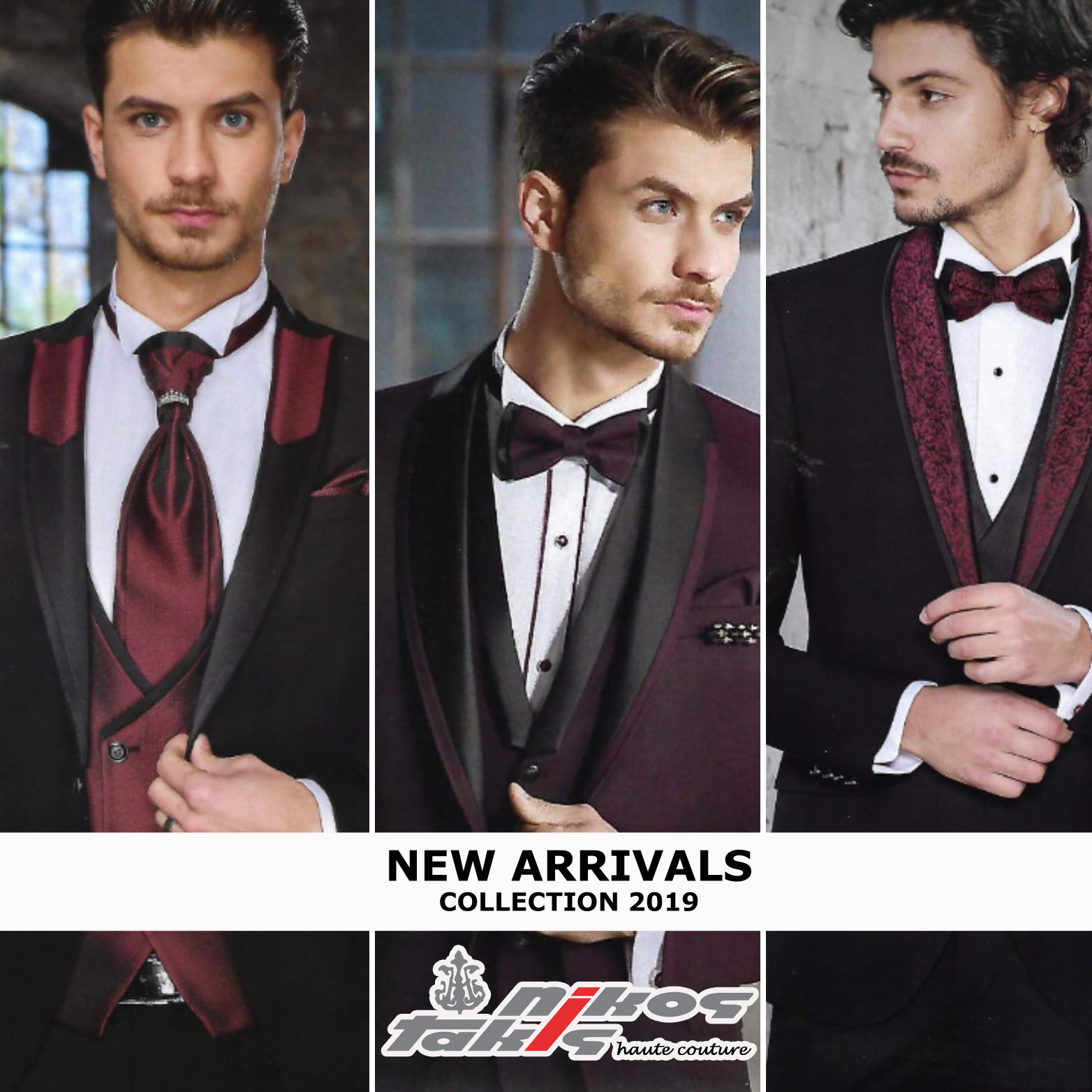 triplet suits2019 in black bordeaux WITH LOGOS